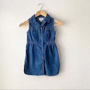 Old Navy girls denim shirt dress